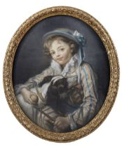 After Jean Baptiste Greuze, English School, 19th Century Boy with a dog