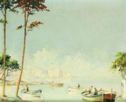 D'Oyly-John (British, 1906-1993) 'Cap d'Antibes'