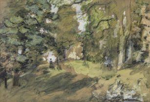 Philip Wilson Steer O.M., N.E.A.C. (British, 1860-1942) Woodland path, Knaresborough