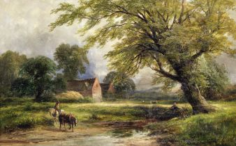 George Turner (British, 1843-1910) 'A Burr at Barrow on Trent'