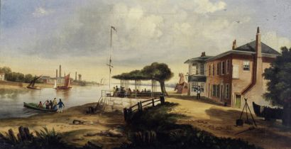 R. Pembery (British, 19th Century) The old red house, Battersea