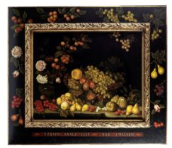 Studio of Miguel Canals (20th Century) An abundant still life of fruit canvas 80 x 95.5cm (31 1/...