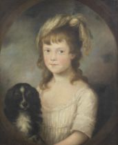 Circle of Sir Nathaniel Dance Holland, Bt. (London 1734-1811 Winchester) Portrait of a girl, said...
