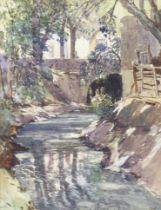 Samuel John Lamorna Birch, RA, RWS, RWA (British, 1869-1955) 'Near Avignon, France'