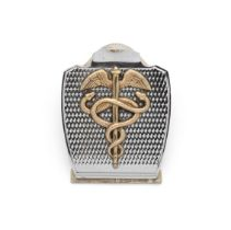 Hermès: a French oversized silver letter/paper clip Ravinet d'Enfert, circa 1960, stamped H...