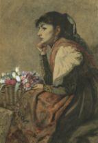 John Anster Fitzgerald (British, 1832-1906) The flower seller