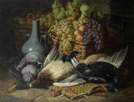 Thomas Charles Bale (British, 1855-1925) Still life of fruit and game