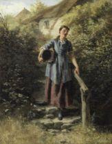 Henry John Yeend King, RBA, VPRI, ROI (British, 1855-1924) A young lady carrying a pale