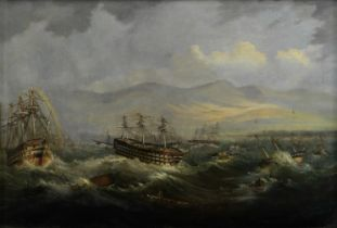 Lt. John Frederick Warre (British, active mid-19th century) Very heavy swells causing trouble for...
