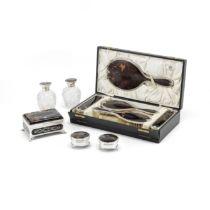 An Edwardian silver and piqué tortoiseshell casket Henry John & Albert Edward Batson, Londo...