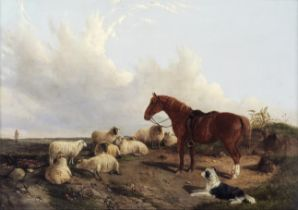 Attributed to John Duvall (British, 1816-1892) The farmer's friends