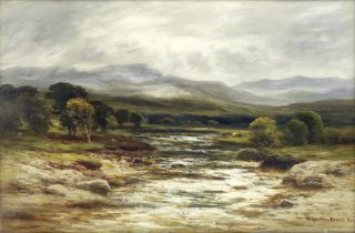 William Beattie-Brown (British, 1831-1909) The Calder near Newtonmore