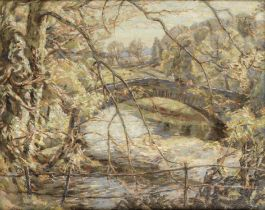 Percy Hague Jowett (British, 1882-1955) 'Rothay Bridge, Ambleside'