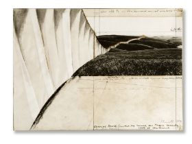 Christo (1935-2020) Running Fence (Project for Sonoma and Marin County State of California) 1974