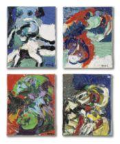 Karel Appel (1921-2006) Untitled, (4 Works)1967
