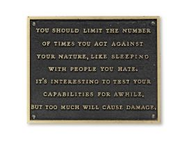 Jenny Holzer (B. 1950) Living Series: You should limit the number of times... 1980-1982