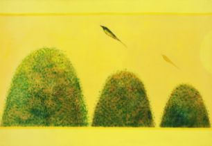 Jagdish Swaminathan (Indian, 1928-1994) Untitled (Bird & Mountain series)