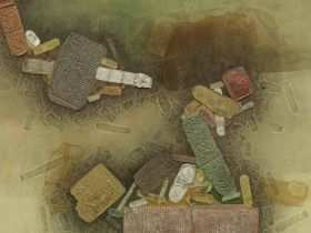 Shanti Dave (Indian, B. 1931) Untitled (label on stretcher: Not to be taken from the Library.)