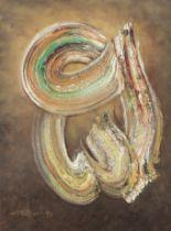 Ismail Gulgee (Pakistani, 1926-2007) Untitled (Calligraphic)