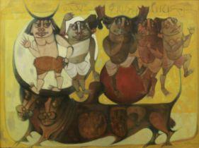 J. Sultan Ali (Indian, 1920-1990) Untitled (Adivasis)
