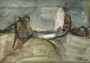Sadanand K. Bakre (Indian, 1920-2007) Untitled(Landscape)