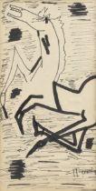 Maqbool Fida Husain (Indian, 1913-2011) Untitled (Horse)
