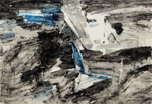 Ram Kumar (Indian, 1924-2018) Untitled (Landscape)