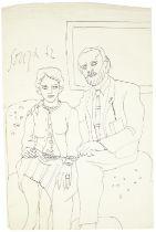 Francis Newton Souza (Indian, 1924-2002) Portrait of Oswald & Margaret Jones