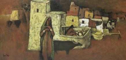 Arup Das (Indian, 1924-2004) Untitled (Villagers)