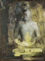 Ganesh Haloi (Indian, B. 1936) The Lord Buddha the Enlightened One (gallery label on backboard wi...