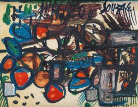 Francis Newton Souza (India, 1924-2002) Still Life with Fruit
