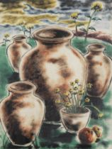 K.H. Ara (Indian, 1917-2001) Untitled (Still Life with Sunflower)