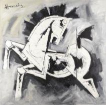 Maqbool Fida Husain (Indian, 1913-2011) Horse (Early 1980s)