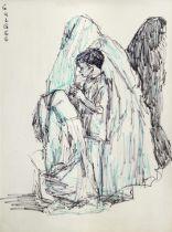 Ismail Gulgee (Pakistani, 1926-2007) Untitled (Four figures)
