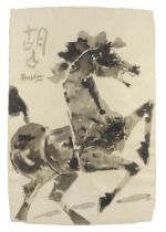 Maqbool Fida Husain (Indian, 1915-2011) Untitled (Horse) (1990)