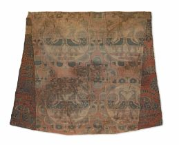 A Sogdian silk samite fragment with confronting pheasants Central Asia, 7th-9th Century