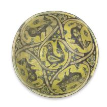 A Nishapur buffware pottery bowl Persia, 10th Century