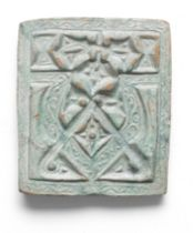 A Ghaznavid monochrome pottery tile Afghanistan, 11th/ 12th Century