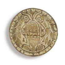 An Abbasid lustre pottery bowl Mesopotamia, 9th Century