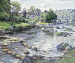 Samuel John Lamorna Birch, RA, RWS, RWA (British, 1869-1955) 'June day, Deveron at Rothiemay'