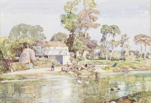 Samuel John Lamorna Birch, RA, RWS, RWA (British, 1869-1955) 'September at Phillack'