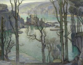 Samuel John Lamorna Birch, RA, RWS, RWA (British, 1869-1955) 'King Charles's Castle, Salcombe, S....