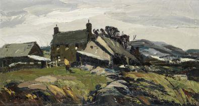 Donald McIntyre (British, 1923-2009) Winter, North Wales