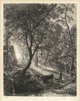 Samuel Palmer (British, 1805-1881) The Skylark Etching, 1850, on chine appliqué, the seventh...