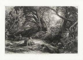 Samuel Palmer (British, 1805-1881) The Early Ploughman, or The Morning Spread Upon the Mountains ...