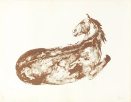 Dame Elisabeth Frink R.A. (British, 1930-1993) Reclining Horse