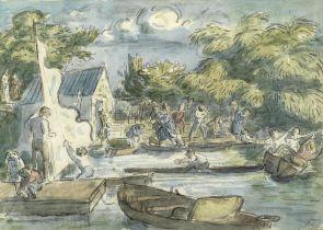 Edward Ardizonne (British, 1900-1979) Boating Lake