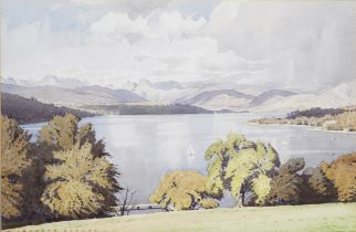 William Heaton Cooper (British, 1903-1995) View over Lake Windermere on a summers day