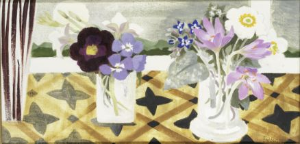 Mary Fedden R.A. (British, 1915-2012) Two Pots of Flowers