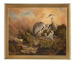 Samuel John Carter, ROI (British, 1835-1892) A Norfolk Heronry